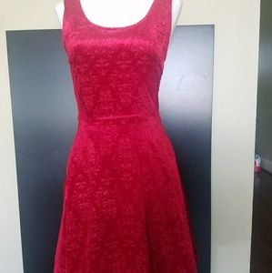 NWT Red Christmas Damask Dress- S